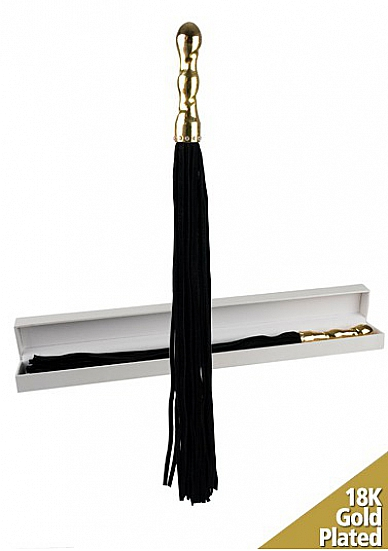 Плетка Luxury Whip 18k-Gold plated Black SH-OULM003