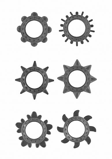 Набор Эрекционных колец Black SH-GC025BLK