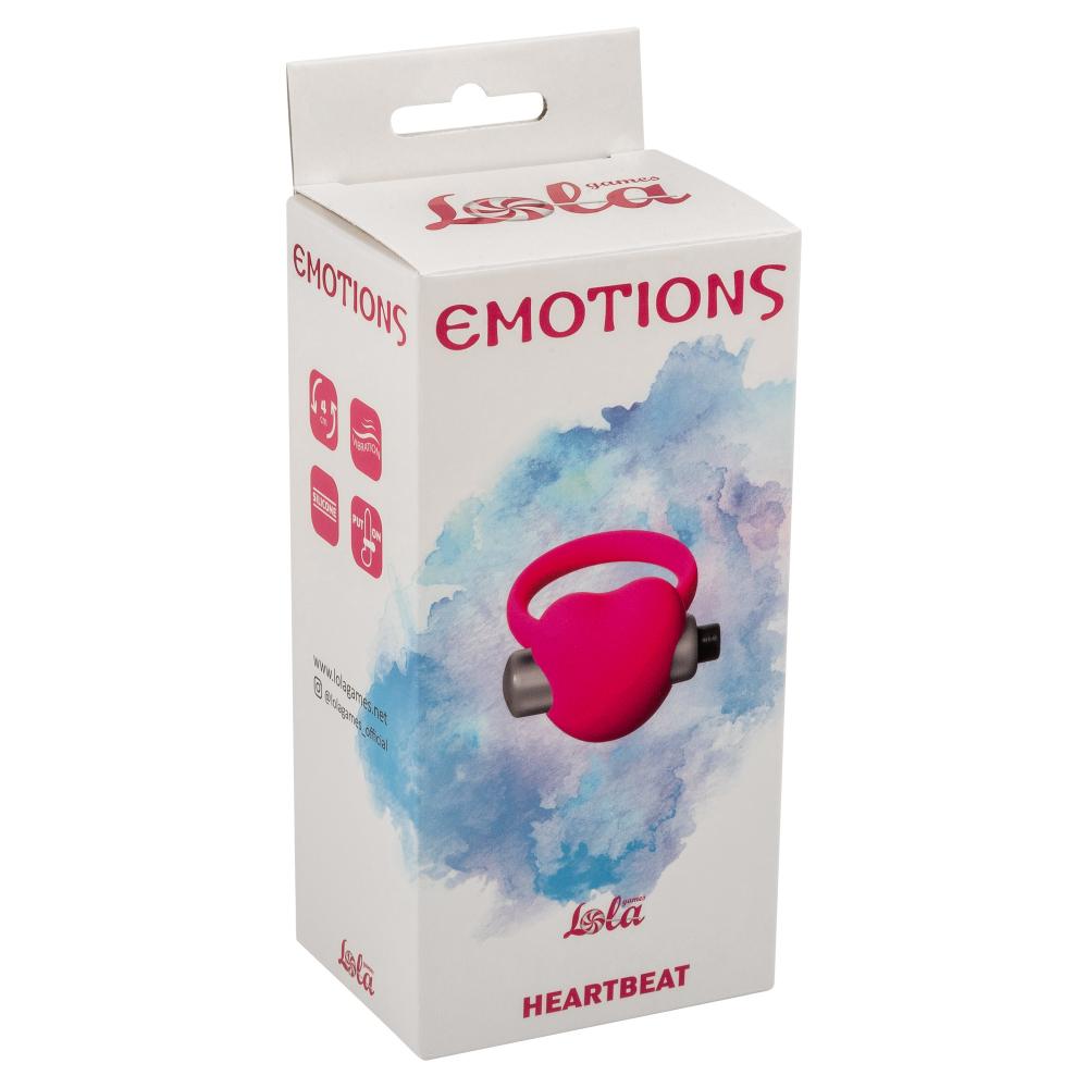 Эрекционное виброколечко Emotions Heartbeat pink 4006-01Lola
