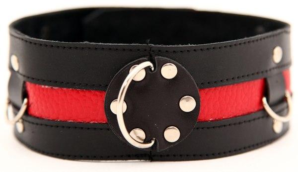 Ошейник черный с красным 55005ars
