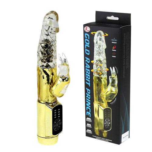 Вибратор Gold Rabbit Prince BW-037302J