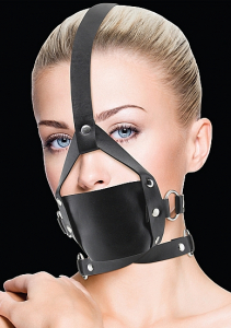 Кляп Leather Mouth Black OUCH! SH-OU148BLK