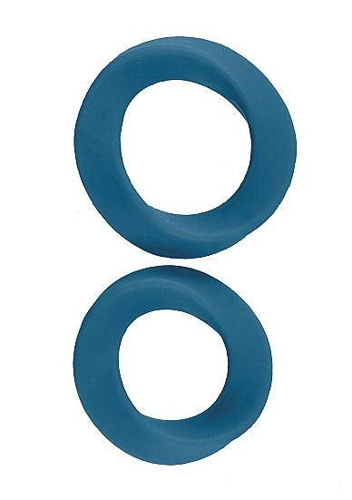 Два эрекционных кольца Infinity L and XL Blue SH-MJU014BLU