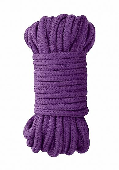 Веревка для бондажа Ouch! Japanese 10m Purple SH-OU270PUR