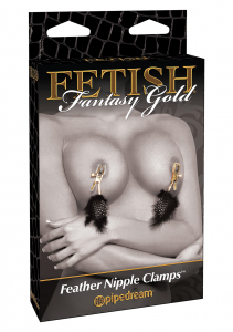 Стимулятор FF GOLD DELUXE FEATHER CLAMPS 399323PD