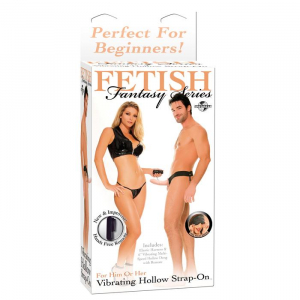FF VIBRATING HOLLOW STRAP ON - FLESH 336721PD