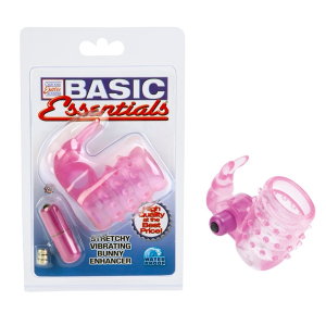 Вибронасадка Basic Essentials Stretchy Bunny Enhancer 1739-04CDSE