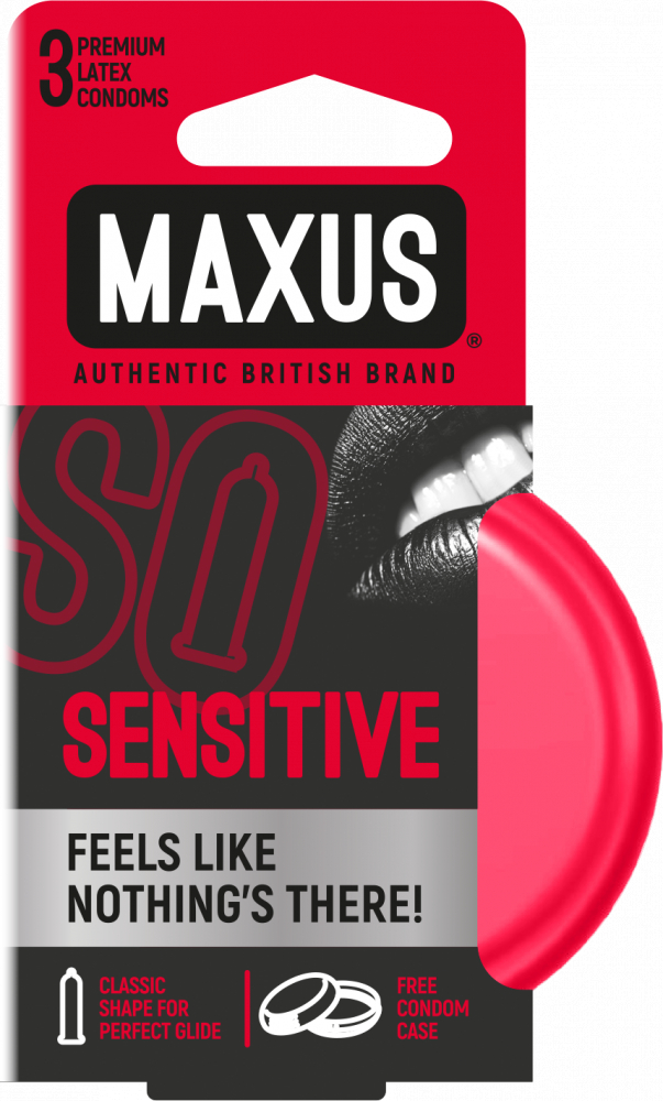 Презервативы ультратонкие MAXUS Sensitive №3 ж/к