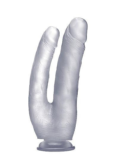 """Двойной фаллоимитатор Realistic Cock 10"""" Transparent SH-REA059TRA"""