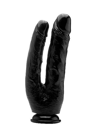 "Двойной фаллоимитатор Realistic Cock 10"" Black SH-REA059BLK"