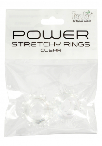 POWER STRETCHY RINGS CLEAR 2PCS 9937TJ
