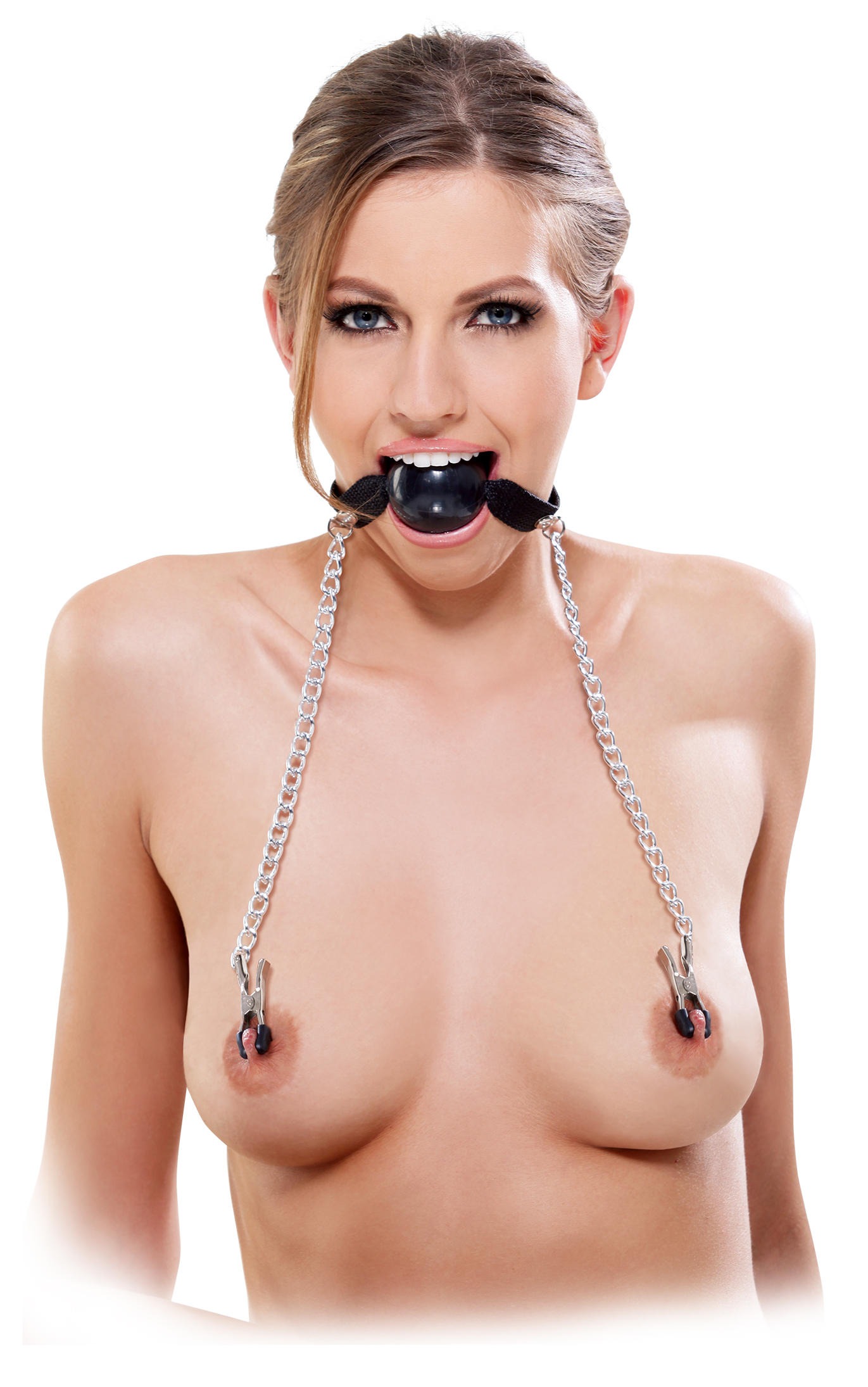 Кляп FF BALL GAG & NIPPLE CLAMP