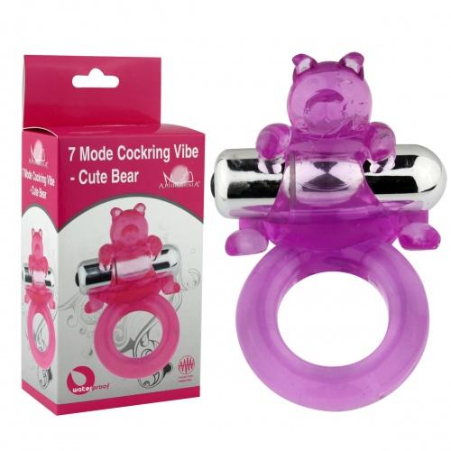 Виброкольцо фиолетовое 7 Model Cockring Vibe-Cute Bear 32014-purpleHW