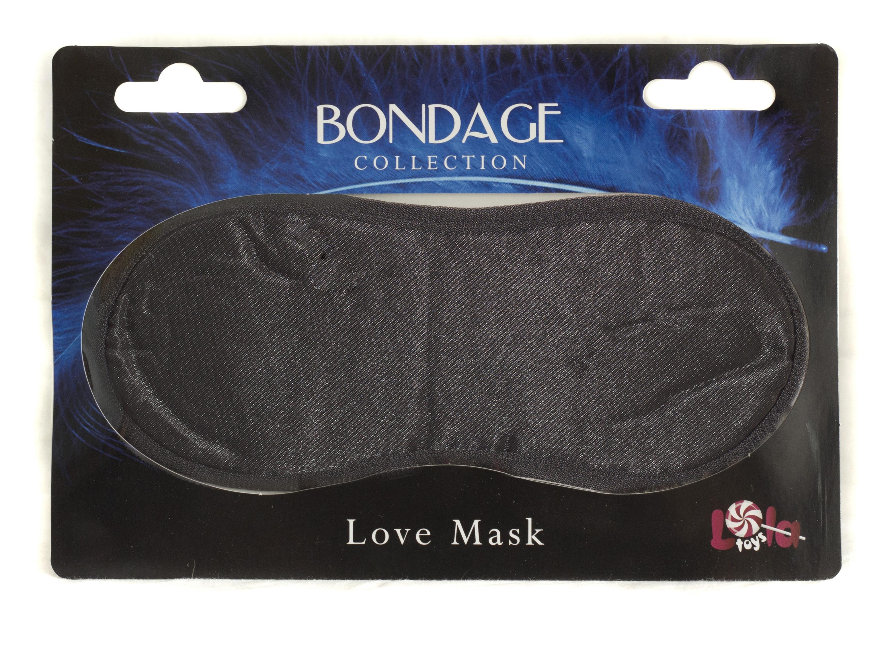 Маска на глаза BONDAGE черная 1030-01lola