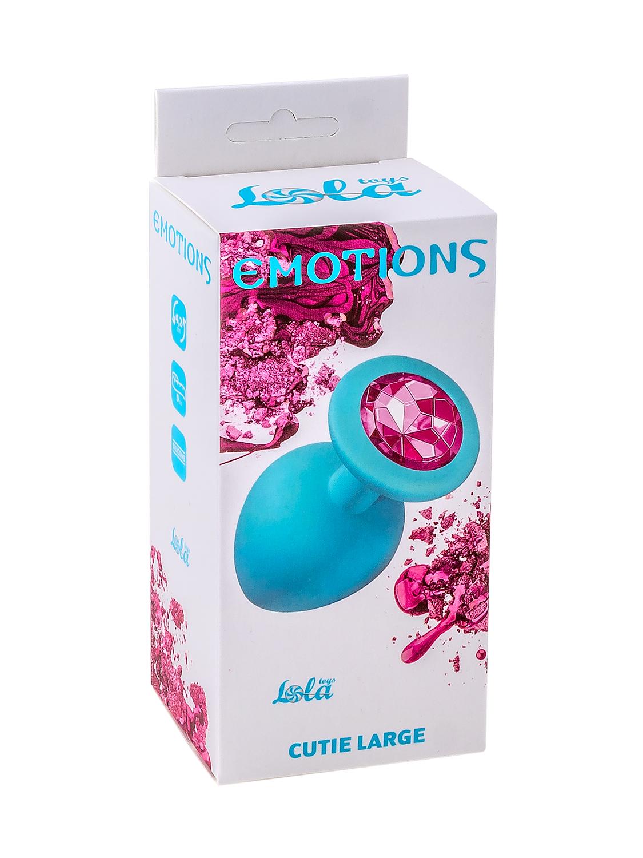 Анальная пробка Emotions Cutie Large Turquoise pink crystal 4013-03Lola